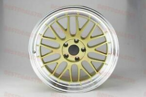 18x8 0 Gold Machined Lip Lm Style Rims Wheels Fits Maxima Altima 5x114