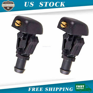 2pcs Front Windshield Washer Fluid Nozzles 3w7z17603aa For Ford F150 Expedition