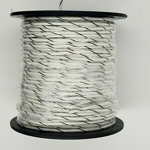 1015 12awg Stranded Hookup Wire White With Brown Stripe