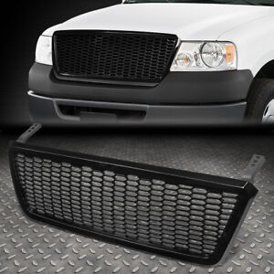 For 04 08 Ford F150 Glossy Honeycomb Style Mesh Front Bumper Hood Grille Grill