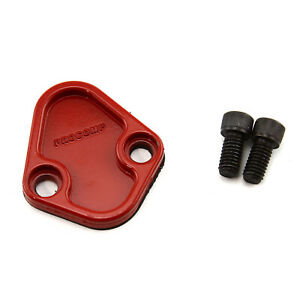 Universal Chevy Bbc Ford Sb Bb Chrysler Fuel Pump Block Off Plate Red