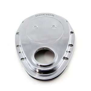 Chevy Sbc 350 Aluminum Timing Chain Cover Polished Ew Logo