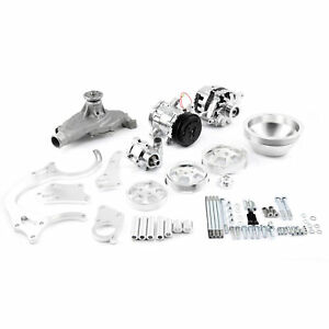 Chevy Bbc 454 Aluminum Serpentine Complete Engine Pulley Components Kit