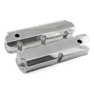 Ford Sb 289 302 351 Windsor Polished Fabricated Valve Covers Tall W Hole