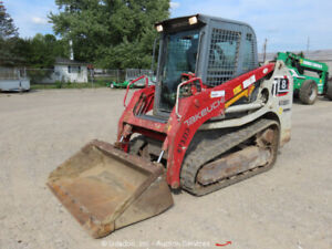 2014 Takeuchi Tl8 Skid Steer Compact Track Loader Cab Crawler High Flow Aux Hyd