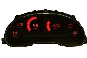 Ford Mustang Digital Dash Panel For 1994 2004 Gauges By Intellitronix Red Leds
