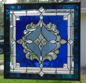 Stained Glass Window Hanging 22 1 2 X 22 1 2