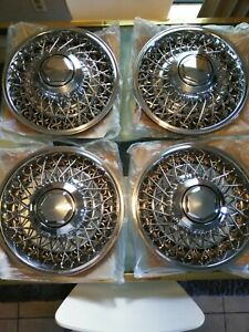Chrysler Nos 15 Wire Wheel Covers Set Of 4 Rare Reproductions