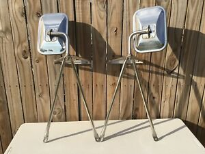 1970s Chevrolet Dodge Ford Gmc Camper Truck Stainless Steel Towing Mirrors Oem