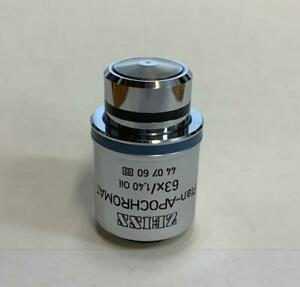 Zeiss Plan Apochromat plan Apo 63x 1 40 Oil Microscope Objective Part 440760
