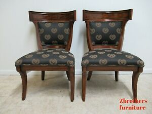 2 Drexel Heritage Klismos Neo Classical Dining Side Chairs Biedermeier A
