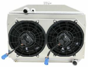 1953 1956 Studebaker Coupe Aluminum Radiator With Spal Brushless Fans A T