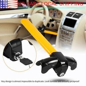 Aluminum Alloy Car Truck Steering Wheel Security Lock Anti Theft Pick Proof