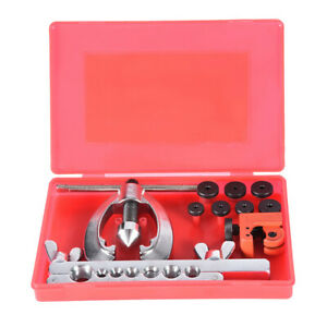 Double Flaring Brake Line Tool Kit Tubing Car Truck Tool With Mini Pipe Cutter W