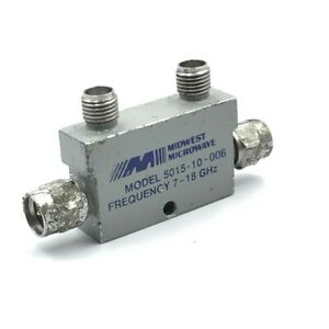 7 18ghz 10db Sma Directional Coupler 5015 10 006 Midwest Microwave