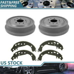 Front Kit Brake Drums Brake Shoes For 1957 1961 Chevrolet Corvette Brand New