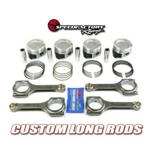 Vitara Pistons Combo 75mm Stock Bore D16 Speedfactory Long Rod Combo W Bearings