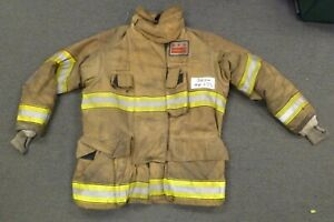 44x35 Firefighter Jacket Coat Bunker Turn Out Gear Globe Gxtreme J432