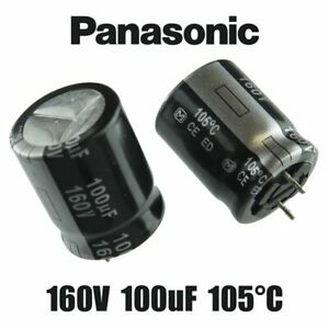 Panasonic 100uf 160 Volt Radial Lead Electrolytic Capacitors Usa Seller