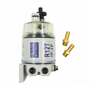 Marine Spin On Fuel Filter With Fuel Fittings Water Separator R12t For Racor