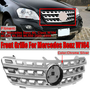 Front Bumper Hood Grille Grill For Mercedes Benz W164 Ml320 Ml350 Ml550 2005 08
