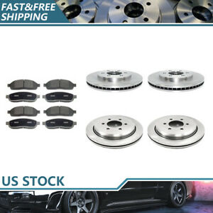 front Rear Brake Rotors Ceramic Brake Pads For 2003 2004 Ford Expedition