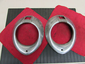 Original 1939 1940 Ford Coupe Sedan Headlight Bezel Set Flathead Hot Rod