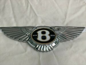 New 2020 Centenary Bentley Gt Gtc Front Wing Badge Emblem Oem New