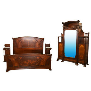 Art Nouveau King Size Bedroom Suite By Louis Majorelle France C 1900 6671