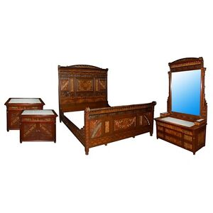 Aesthetic Movement Bedroom Suite C 1885 4 Pc 7432