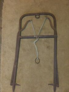 Antique Cast Iron Hay Loft Carrier Bale Forks Harpoon Grapple Hooks Wall Display