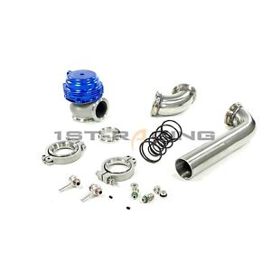Mvr44 Tial 44mm Wastegate 14psi Blue Exhaust Dump Tube Pipe Elbow Inlet Adaptor