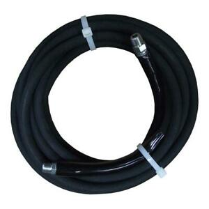 Jgb Pressure Washer Hose Cleaner Accessory 3 8 Inch X 25 Ft Black Rated 4000 Psi
