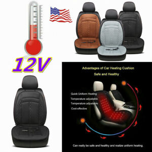 12v Car Heated Front Seat Cushion Cover Heating Heater Warmer Pad Winter 15 Off
