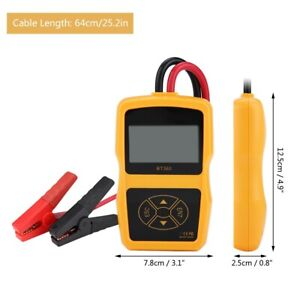 Car 12v Bt 360 Load Battery System Tester Digital Analyzer Test Tool Machine Kit
