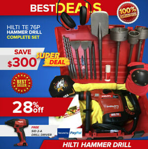 Hilti Te 76 Hammer Drill Preowned Free Sid 2 a Bits Extras Fast Shipping