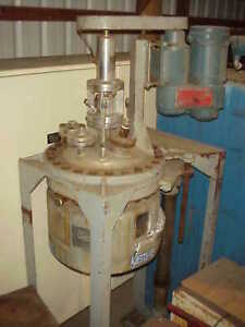 5 Gallon 316 Stainless Steel Jacketed Reactor Rated 150 Psi 350 Deg f