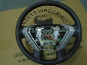 2007 Honda Element Steering Wheel Urethane Black W switches 242e