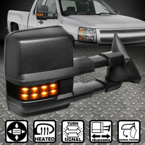 For 99 02 Silverado Sierra Powered Heated Led Turn Signal Towing Mirror Right
