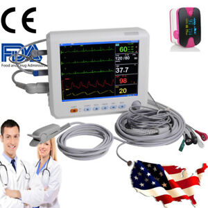 Medical Icu Ccu Vital Signs Monitor Patient Monitor 6 parameter With Oximeter Ce