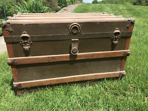 Antique Henry Likly Steam Trunk Rochester Local Pickup Only