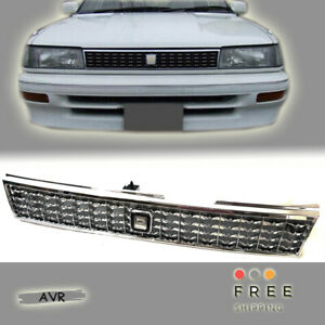 Fit For 88 92 Toyota Corolla Ae90 Ae92 93 94 Chrome Grille Grill Jdm Style