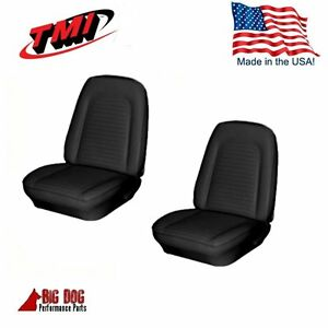 1969 Camaro Coupe Front Rear Black Seat Upholstery 48 Rear In Stock