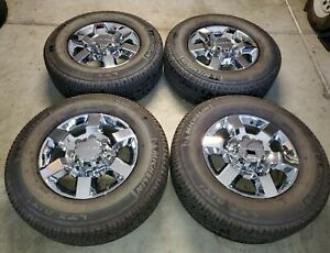 18 Inch Gmc Chevy Denali Factory Oem Wheels And Tires Hd 2500 3500 Truck 8x180