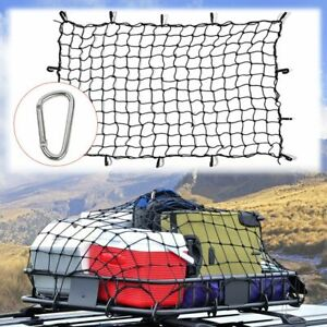 70x47 Truck Suv Luggage Cargo Net Bungee Nets W 12hooks Stretches To 163x107