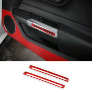 Car Inner Door Handle Frame Trim Cover For Ford Mustang 2015 Red Accessories