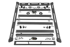 Rough Country Roof Rack System W led Lights For 07 18 Jeep Jk Wrangler 10615