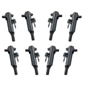 8 Ignition Coils With Connector Boots For Dodge Ram 1500 Pick Up 4 7l 08 13
