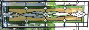 Stained Glass Transom Window Hanging 32 X10