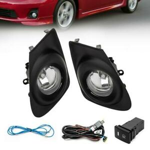 For 2011 2012 2013 Toyota Corolla Pair Front Bumper Fog Light With H11 Bulbs